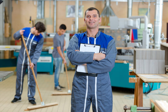 floor care and cleaning services in factory