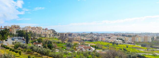 Paphos panorama skyline city Cyprus