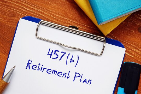 Conceptual photo about 457(b) Retirement Plan with written phrase.