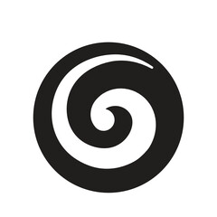 Koru, Maori symbol, spiral shape based on silver fern frond