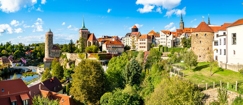 View of Bautzen town in Germany