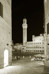 Fototapete - Piazza del Campo in historical city Siena, Tuscany, Italy