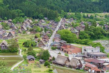 Fototapete - Historical village of Shirakawa-go. Shirakawa-go is one of Japan's UNESCO World Heritage Sites located in Gifu Prefecture, Japan.