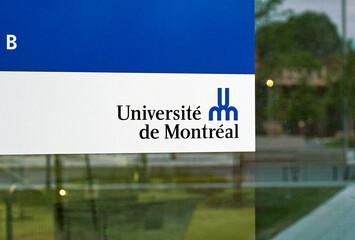 Entrance and logo of Universite de Montreal