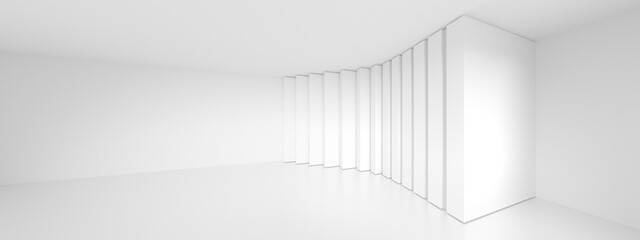 Fotobehang - Abstract Wall Background. White Curved Texture