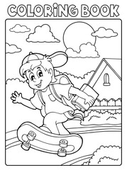 Coloring book school boy theme 2
