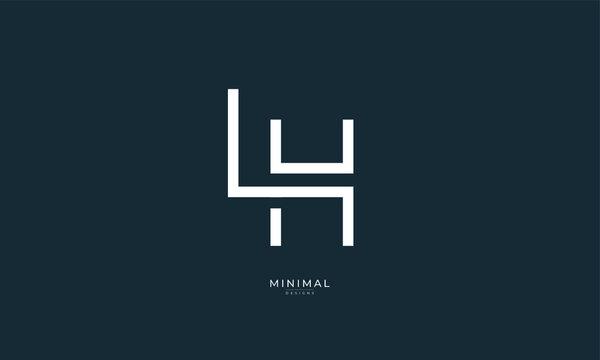 Alphabet letter icon logo LH