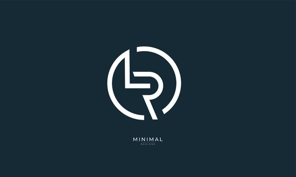 Alphabet letter icon logo LR