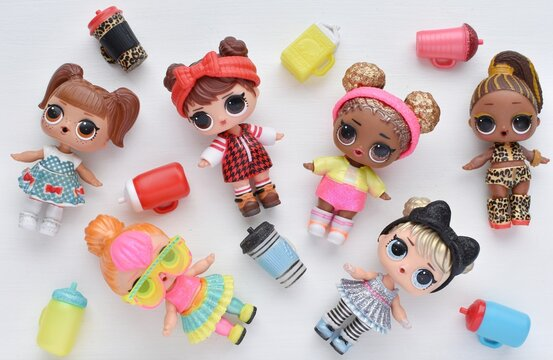 L.O.L. surprise dolls Glitter and Under Wraps series, January 21, 2019 in Vilnius, Lithuania.