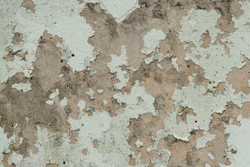 Foto auf AluDibond Alte schmutzig texturierte wand Texture of old painted peeling wall. Vintage backdrop for design.