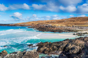 Wall Mural - The beautiful and rugged coastline at Mealista on the Isle of Lewis