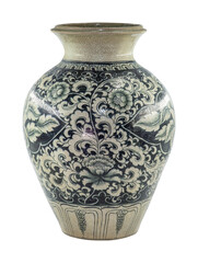 a traditional chinese porcelain vase with in blue colored