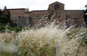 View shows the remains of the ancient Roman city of Falerii Novi near Rome
