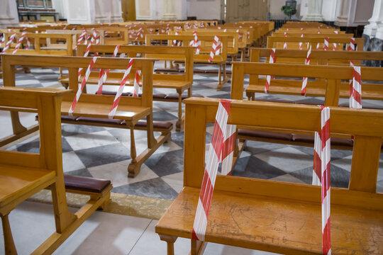 Christian church during the coronavirus pandemic Covid-19 in Italy