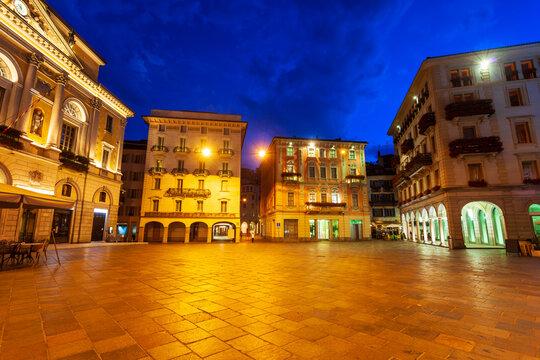Piazza Riforma main square, Lugano