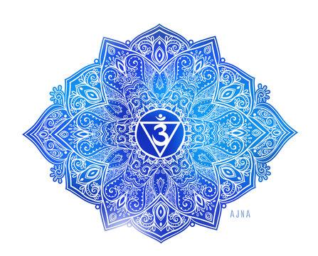 The Soul Star Chakra symbol vector illustration. For logo yoga healing