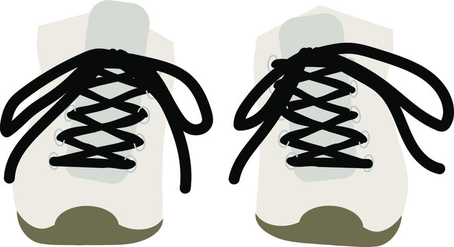 Pair of Running Shoes Vector Illustration