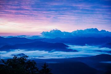 Akadake Ginsendai mountains at sunrise, Daisetsuzan National Park, Kamikawa, Hokkaidō, Japan