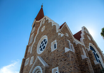 The famous Christ Church in Namibia's capital Windhoek