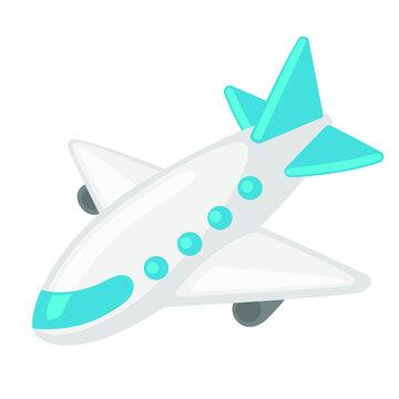 Airplane Travel Emoji Vector Design Art Trendy Communication Chat Elements