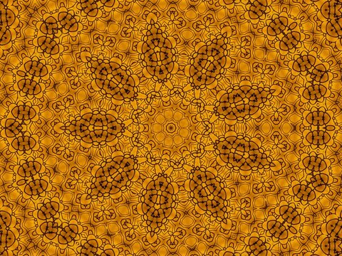 vintage wallpaper yellow pattern made with the help of graphics editing and formatting.