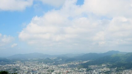 Wall Mural - 都市風景 長崎市 タイムラプス