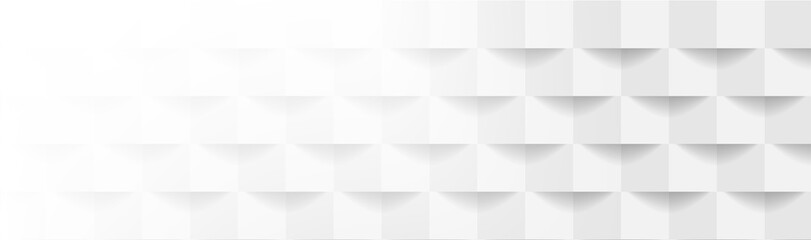 Abstract grey and white geometric mosaic background. Vector tech corporate banner design