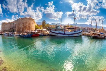 Fotobehang Noord Europa The harbour and medieval castle at Kyrenia. Cyprus