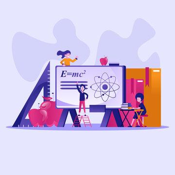 Education concept vector. Vector illustration
