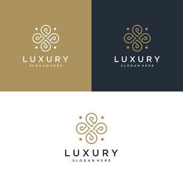 Beauty and luxury logo illustration. Beauty, fashion, salon, spa, Premium Vector