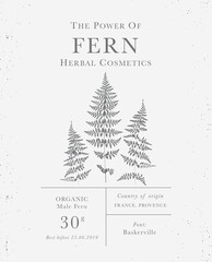 Set of labels of Natural organic herbal products. Vintage packaging design collection for Cosmetics, Pharmacy
