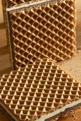 Crispy wafers with chocolate and hazelnut cream
