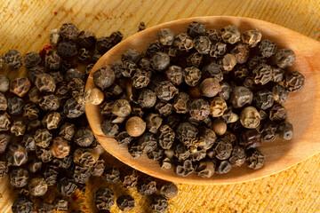 Black pepper corns. Macro Photography.