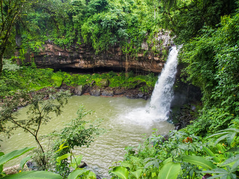 Small waterfall Cascada Blanca near Matagalpa, Nicaragua