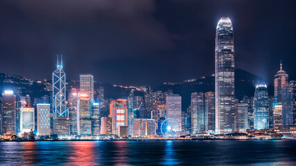 Wall Mural - Victoria harbor in Hong Kong