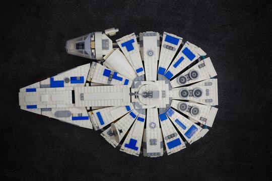 Lippstadt - Deutschland 10. Juni 2020 Lego Star Wars Falcon