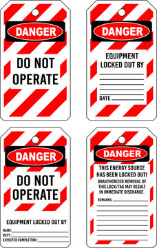 lock tag locked safety danger lockout do not operate