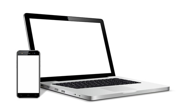 Modern smart phone and laptop device with blank touch screen