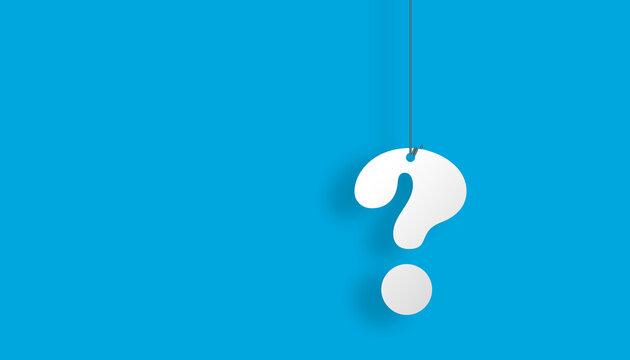 domanda, punto interrogativo, appeso, faq