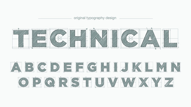Grey Sketch Architectural Blueprint Text Style