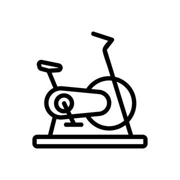 exercise bike sport gym tool icon vector. exercise bike sport gym tool sign. isolated contour symbol illustration
