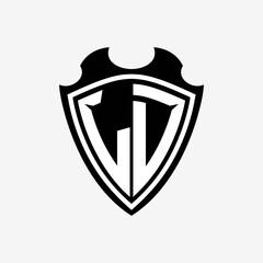 Fototapeta L D initials monogram logo shield designs a modern obraz