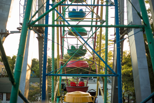 Observation wheel in the children park of relax