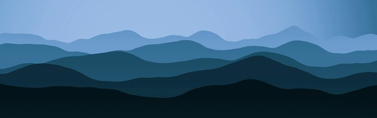 nice panoramic picture of mountains peaks in haze digital graphics texture illustration