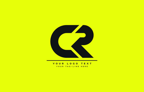 Initial based clean and minimal letter. CR logo creative and monogram icon symbol. Universal elegant luxury alphabet vector design