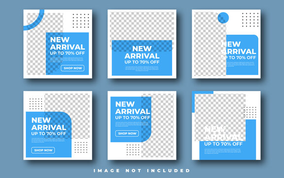 Fashion sale for social media feed template. Social media template vector illustration. Promotion banner template
