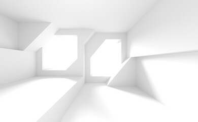Fotobehang - Abstract Tech Background. White Indoor Texture