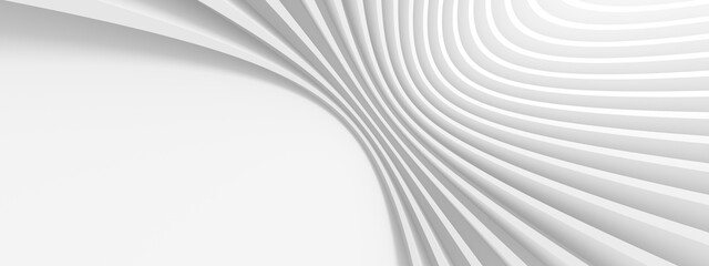 Fotobehang - Abstract Engineering Background. White Wave Texture