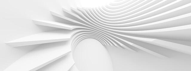 Fotobehang - Modern Technology Wallpaper. Circular Graphic Design