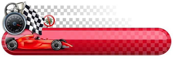 Foto op Aluminium F1 motorsport hygiene finish banner